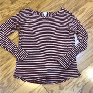 BP. Nordstrom Striped along Sleeve Blouse